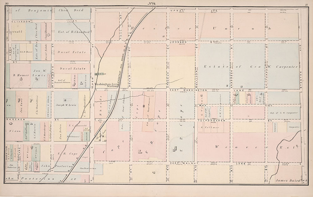 Atlas of Germantown, 22nd Ward, 1871, Plate 4