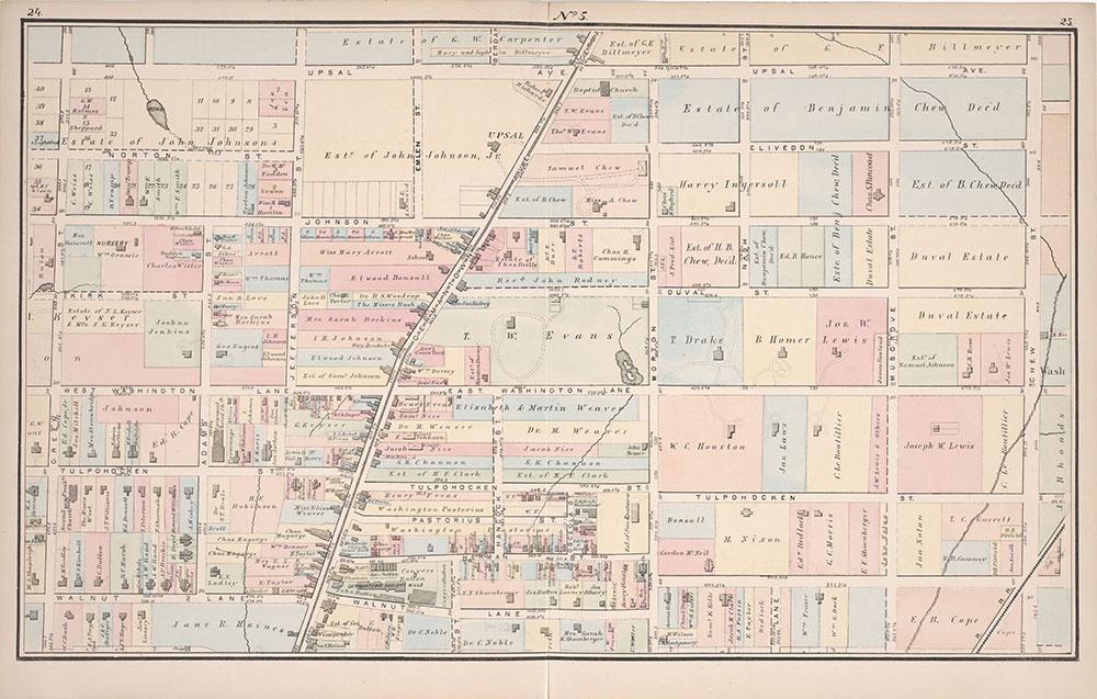 Atlas of Germantown, 22nd Ward, 1871, Plate 5