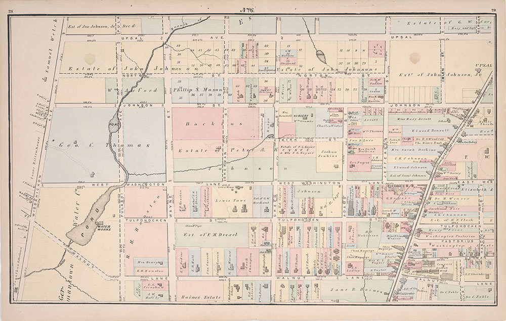 Atlas of Germantown, 22nd Ward, 1871, Plate 6