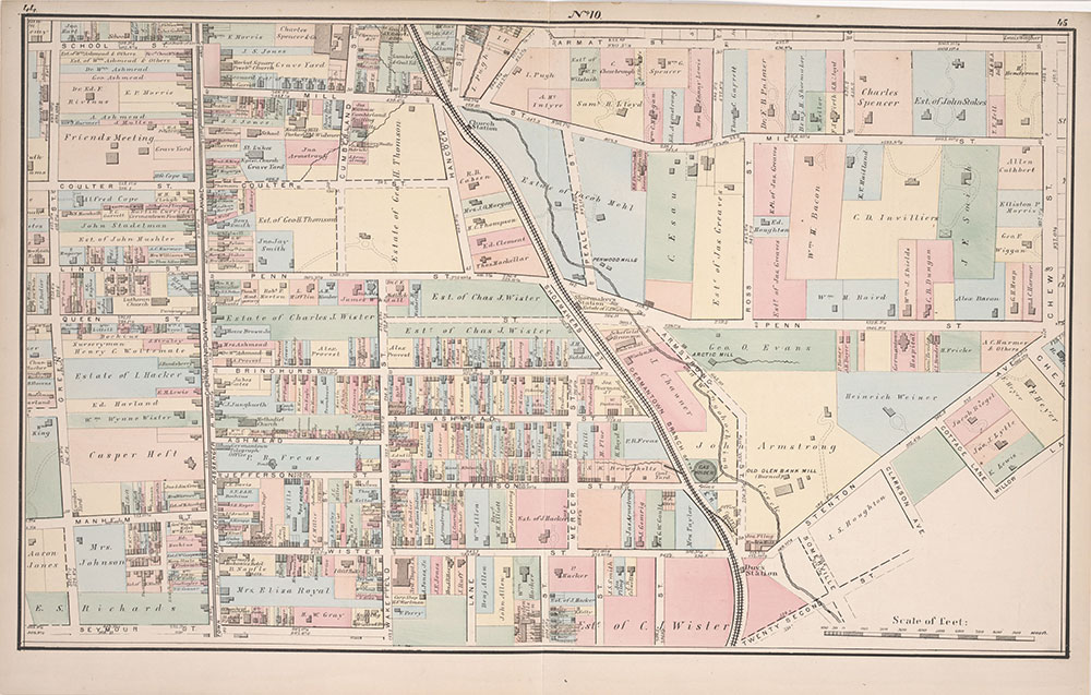 Atlas of Germantown, 22nd Ward, 1871, Plate 10