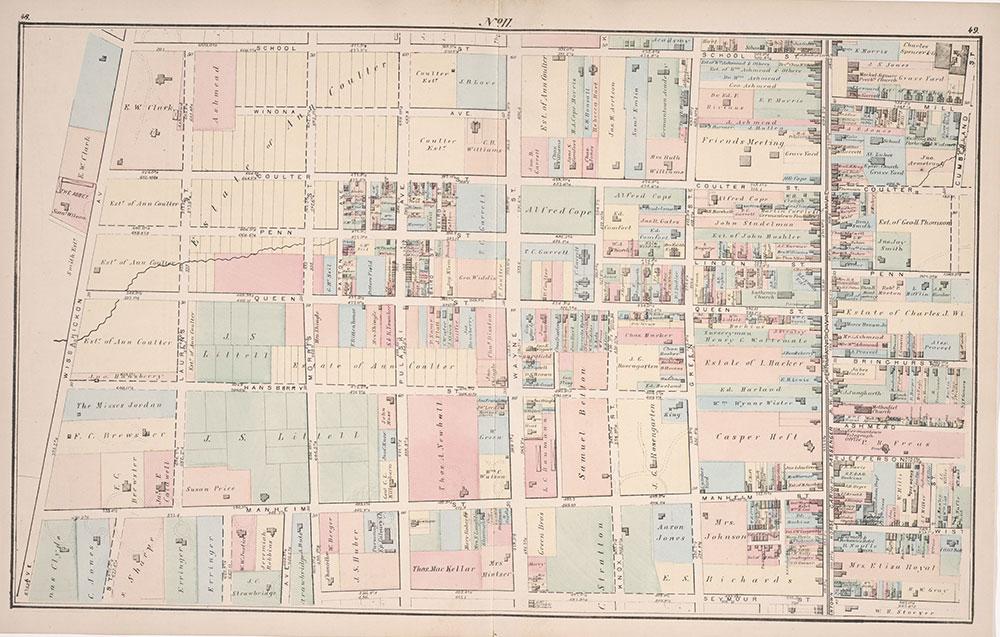 Atlas of Germantown, 22nd Ward, 1871, Plate 11