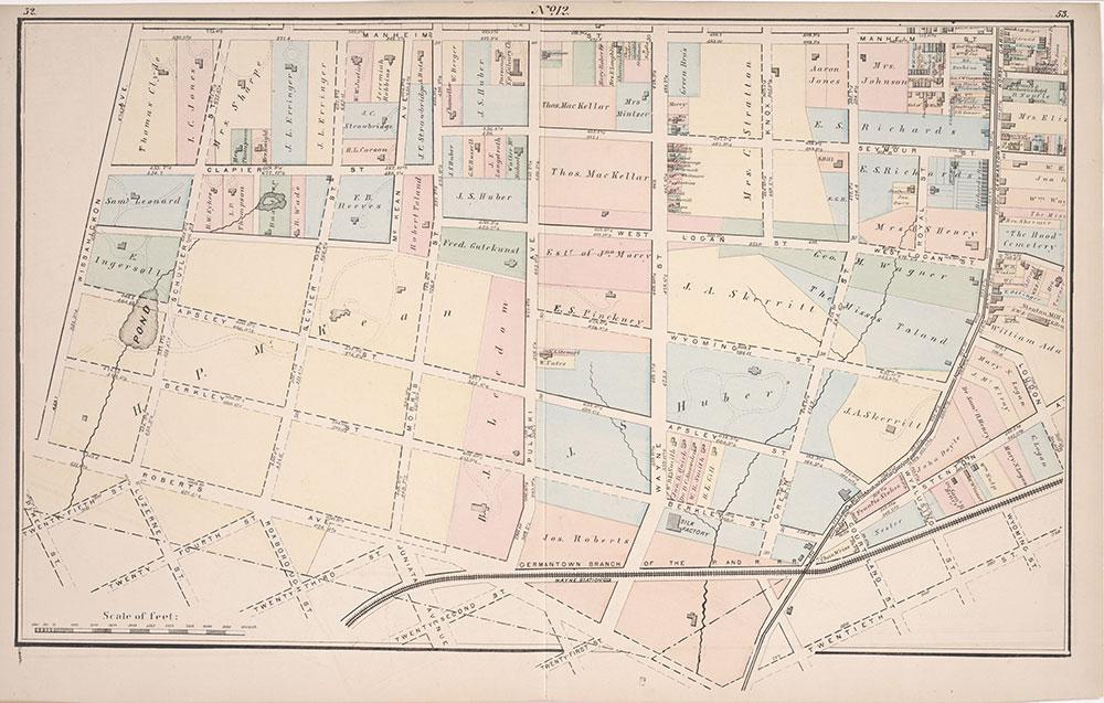 Atlas of Germantown, 22nd Ward, 1871, Plate 12
