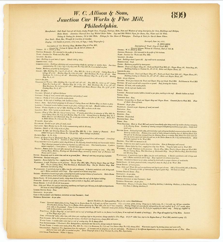 Hexamer General Surveys, Volume 10, Plate 899