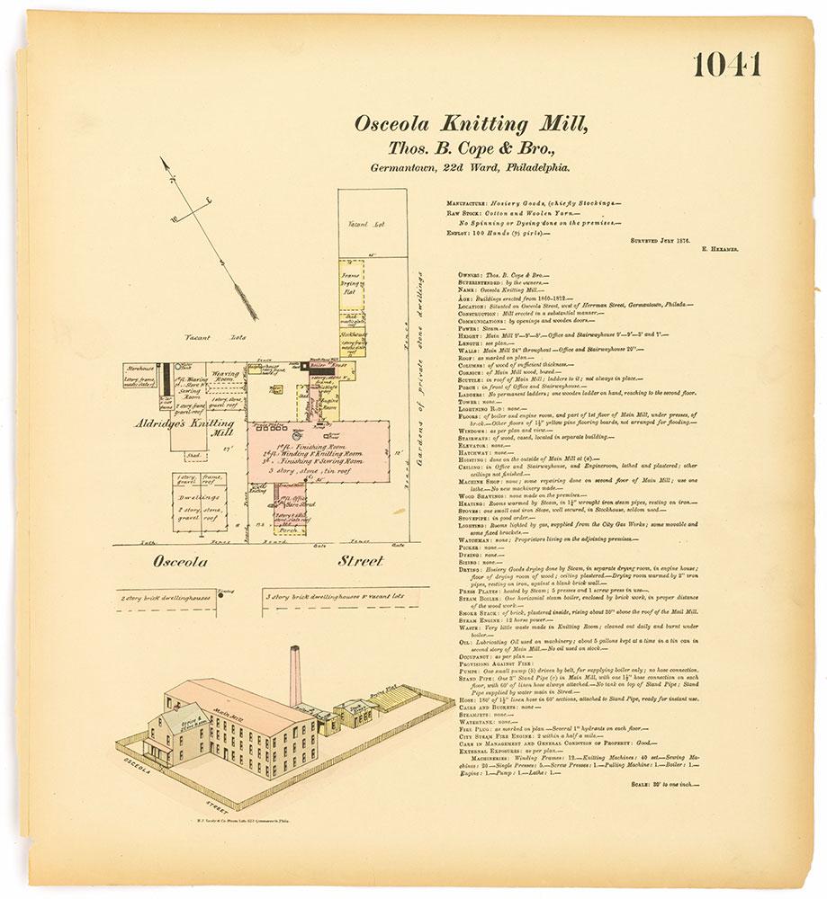 Hexamer General Surveys, Volume 11, Plate 1041