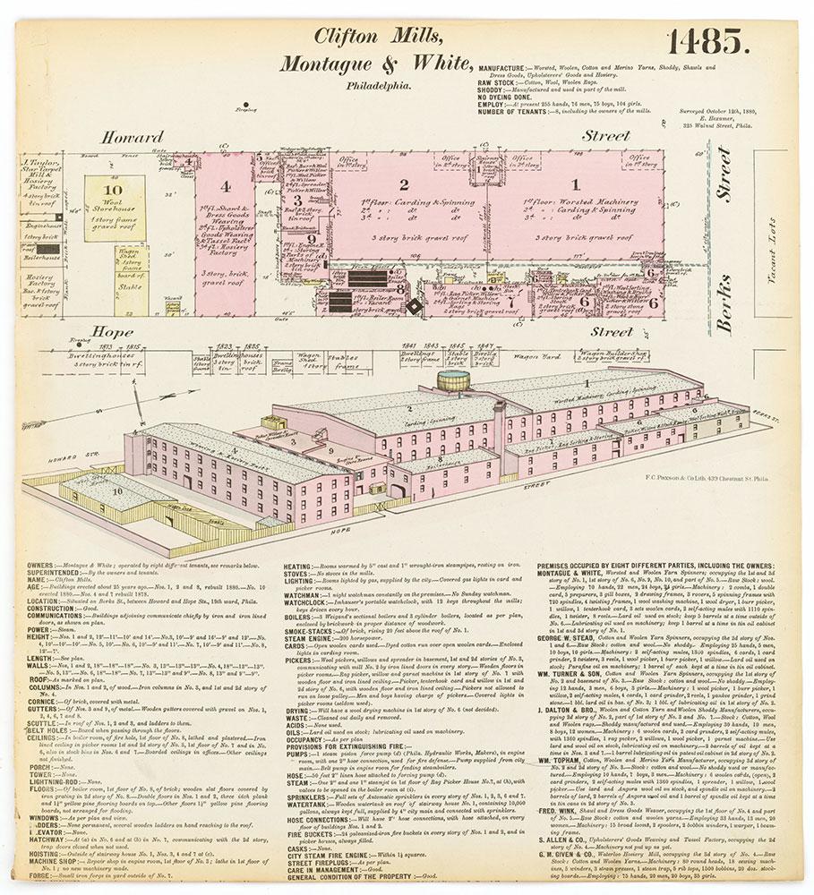 Hexamer General Surveys, Volume 16, Plate 1485