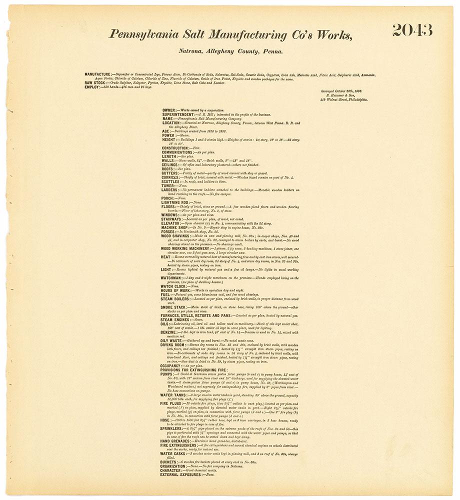 Hexamer General Surveys, Volume 21, Plate 2043