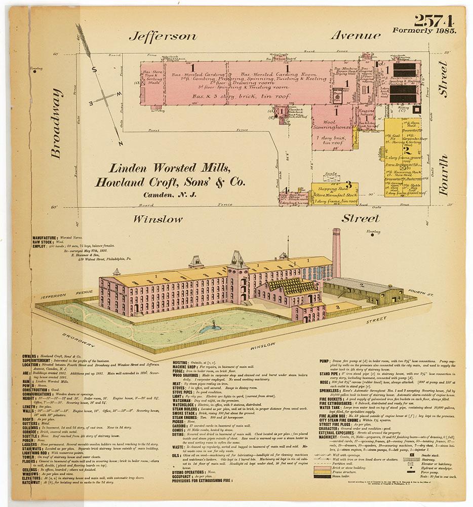 Hexamer General Surveys, Volume 27, Plate 2574