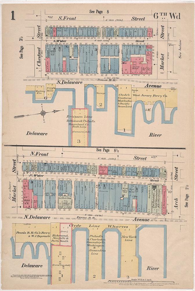 Insurance Maps of the City of Philadelphia, 1897, Plate 1