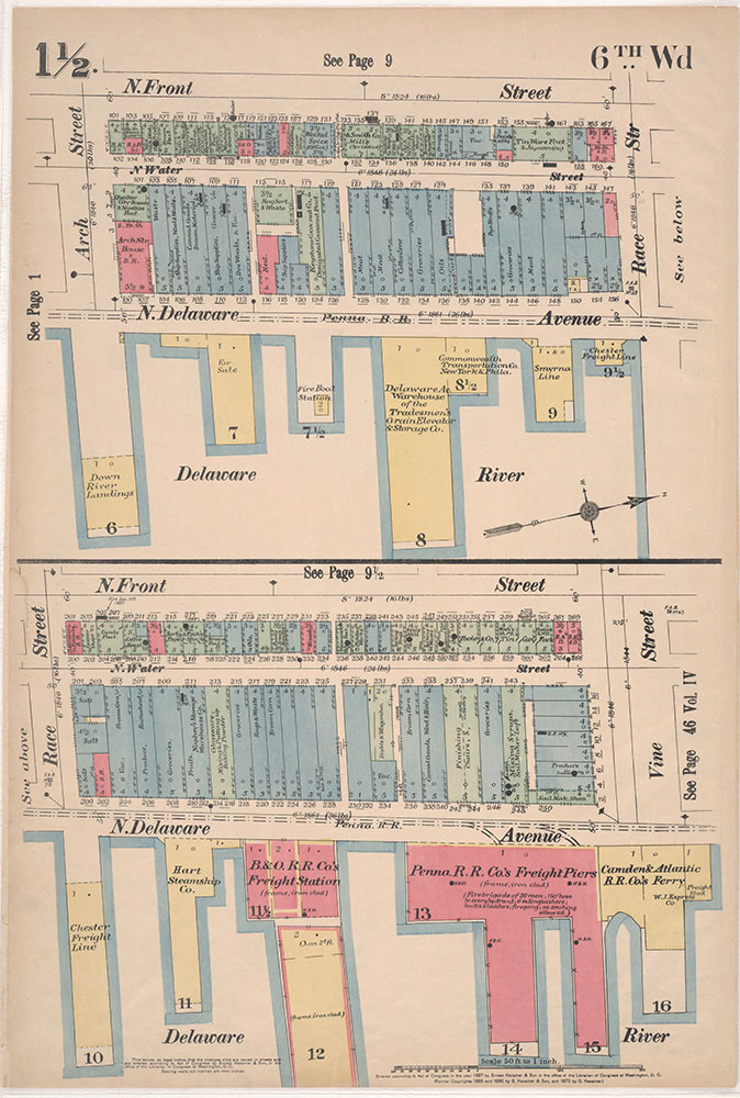 Insurance Maps of the City of Philadelphia, 1897, Plate 1 1/2