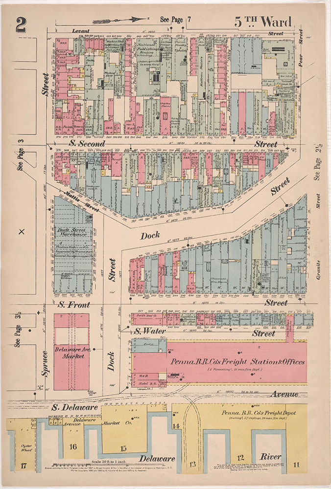 Insurance Maps of the City of Philadelphia, 1897, Plate 2