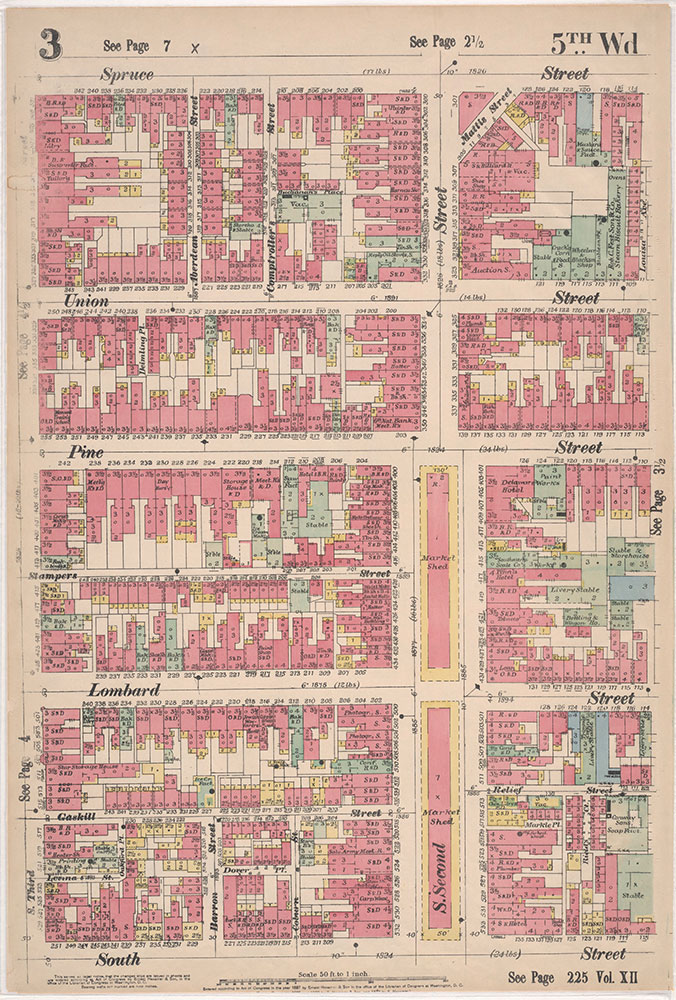 Insurance Maps of the City of Philadelphia, 1897, Plate 3