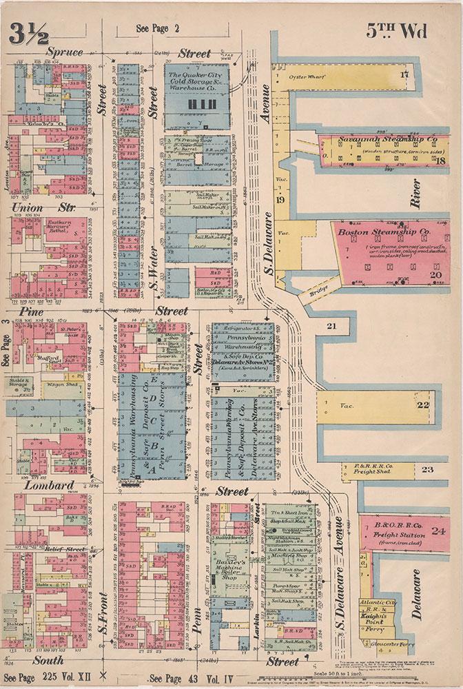 Insurance Maps of the City of Philadelphia, 1897, Plate 3 1/2