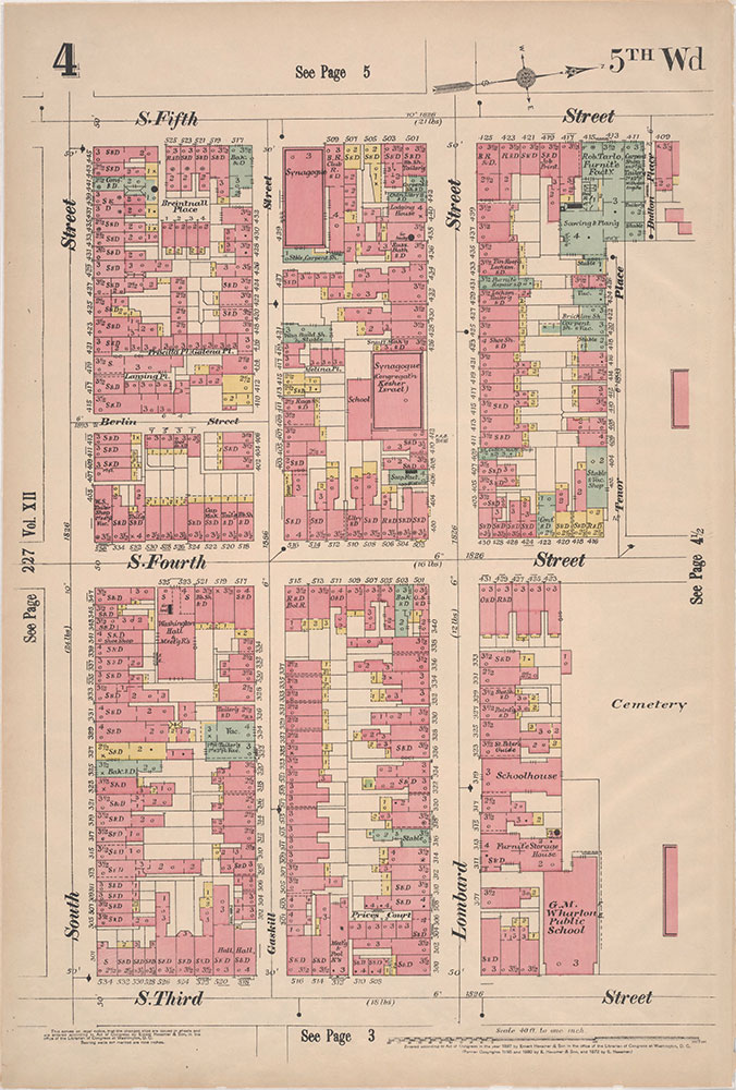 Insurance Maps of the City of Philadelphia, 1897, Plate 4