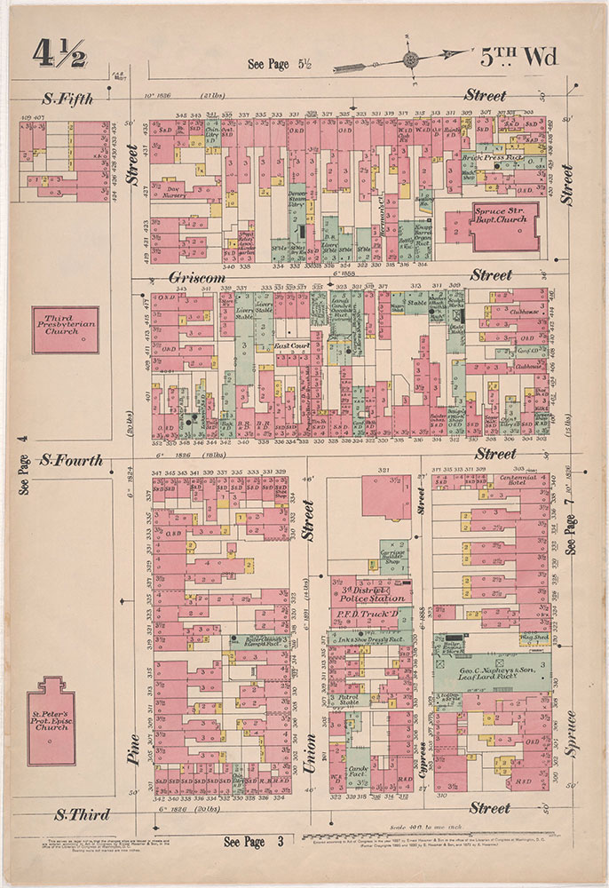 Insurance Maps of the City of Philadelphia, 1897, Plate 4 1/21