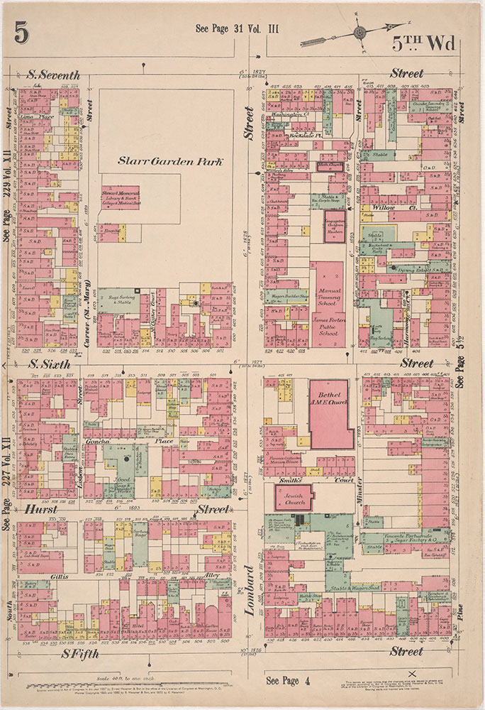 Insurance Maps of the City of Philadelphia, 1897, Plate 5