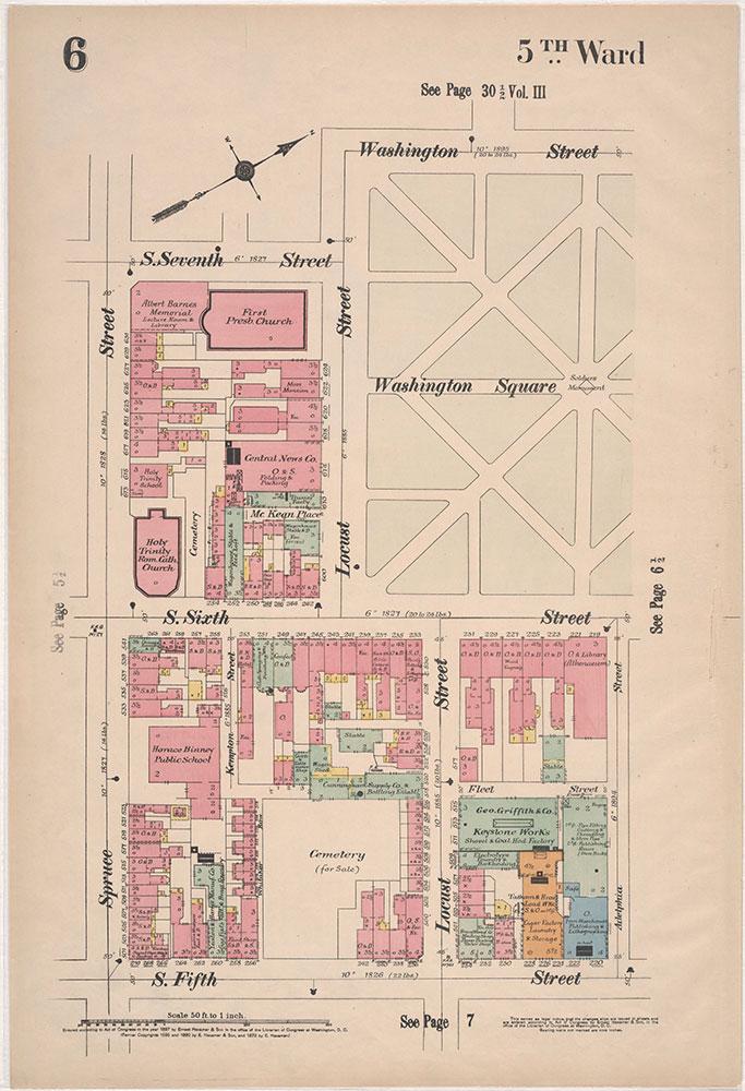 Insurance Maps of the City of Philadelphia, 1897, Plate 6
