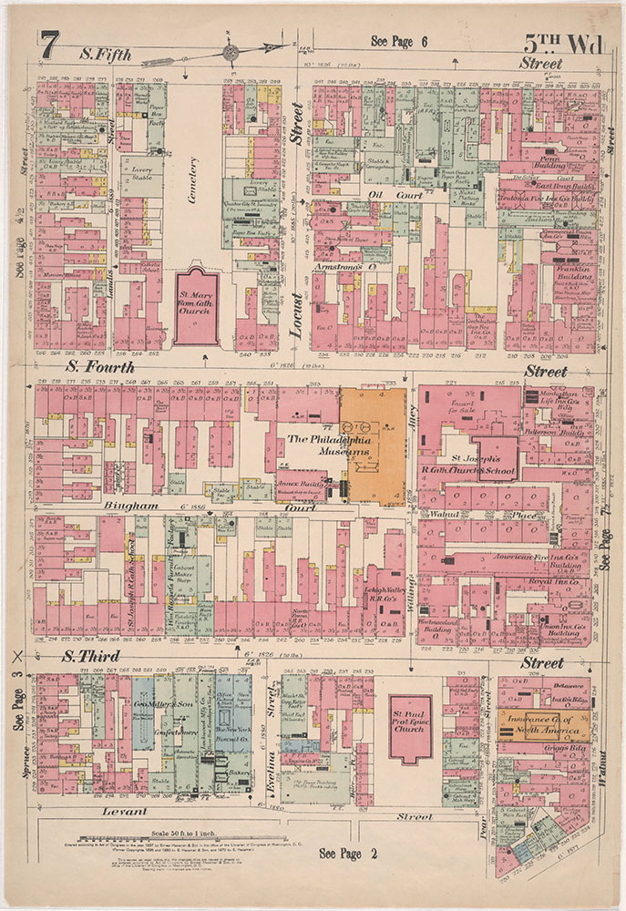 Insurance Maps of the City of Philadelphia, 1897, Plate 7