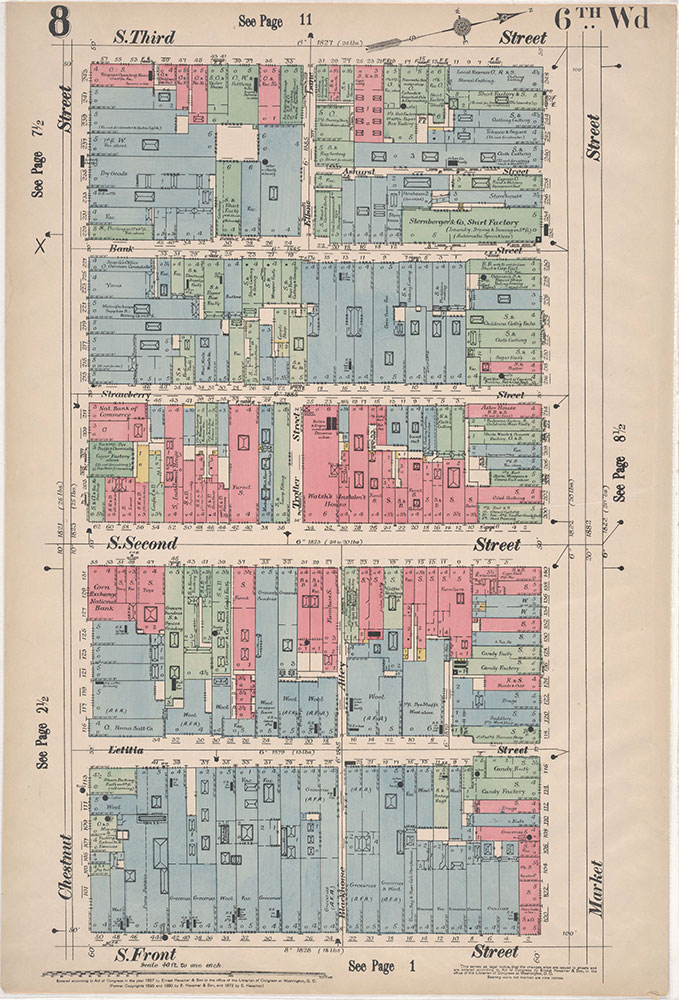 Insurance Maps of the City of Philadelphia, 1897, Plate 8