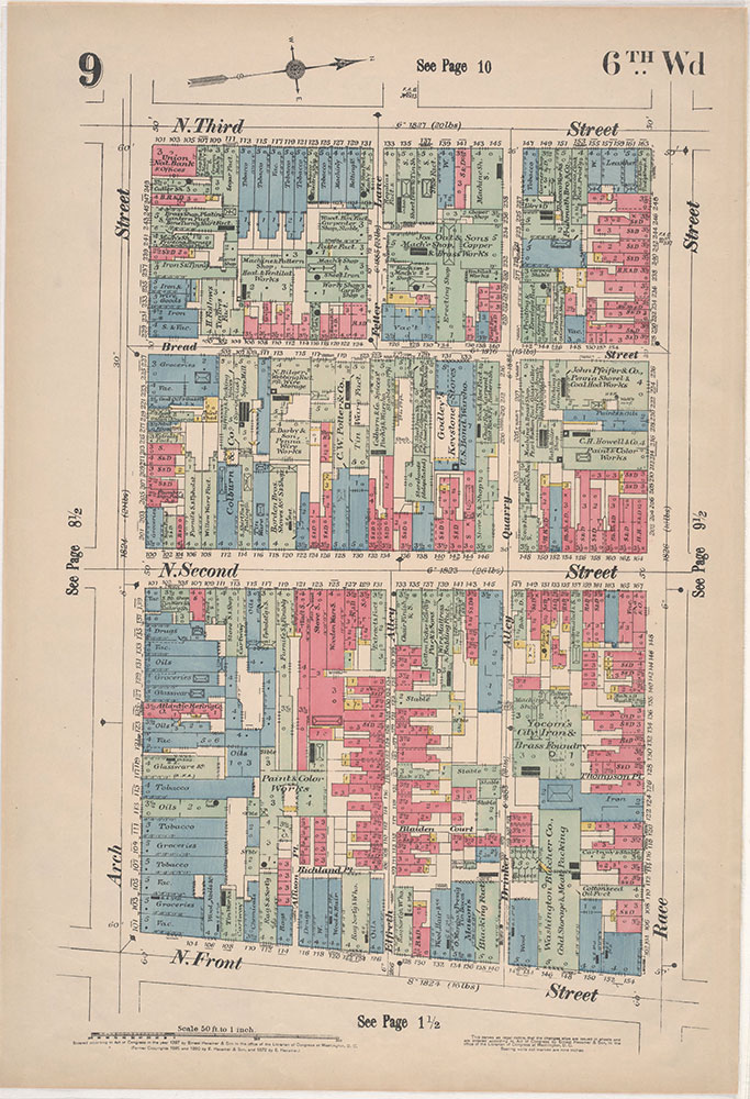 Insurance Maps of the City of Philadelphia, 1897, Plate 9