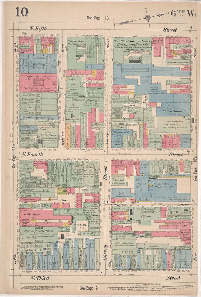 Insurance Maps of the City of Philadelphia, 1897, Plate 10