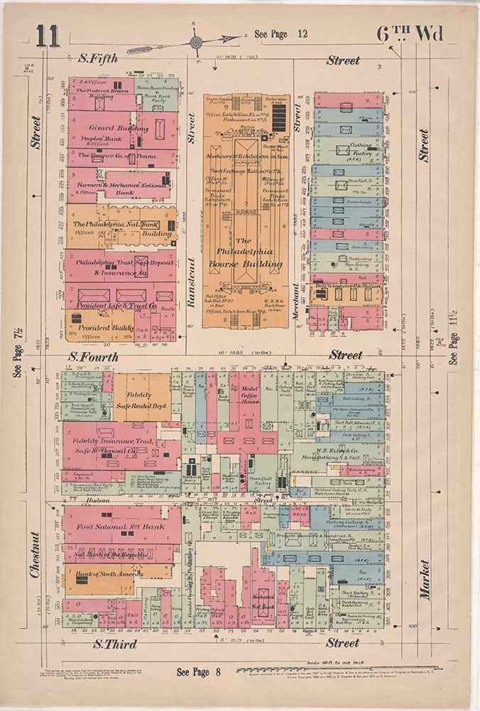 Insurance Maps of the City of Philadelphia, 1897, Plate 11