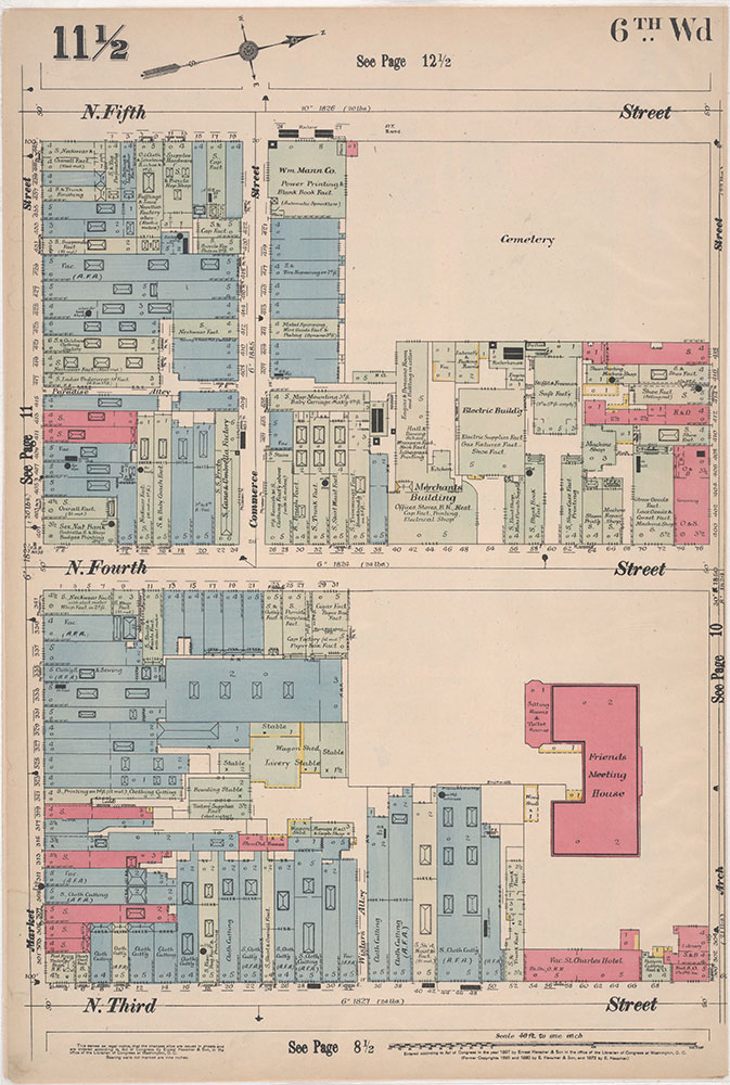 Insurance Maps of the City of Philadelphia, 1897, Plate 11 1/2