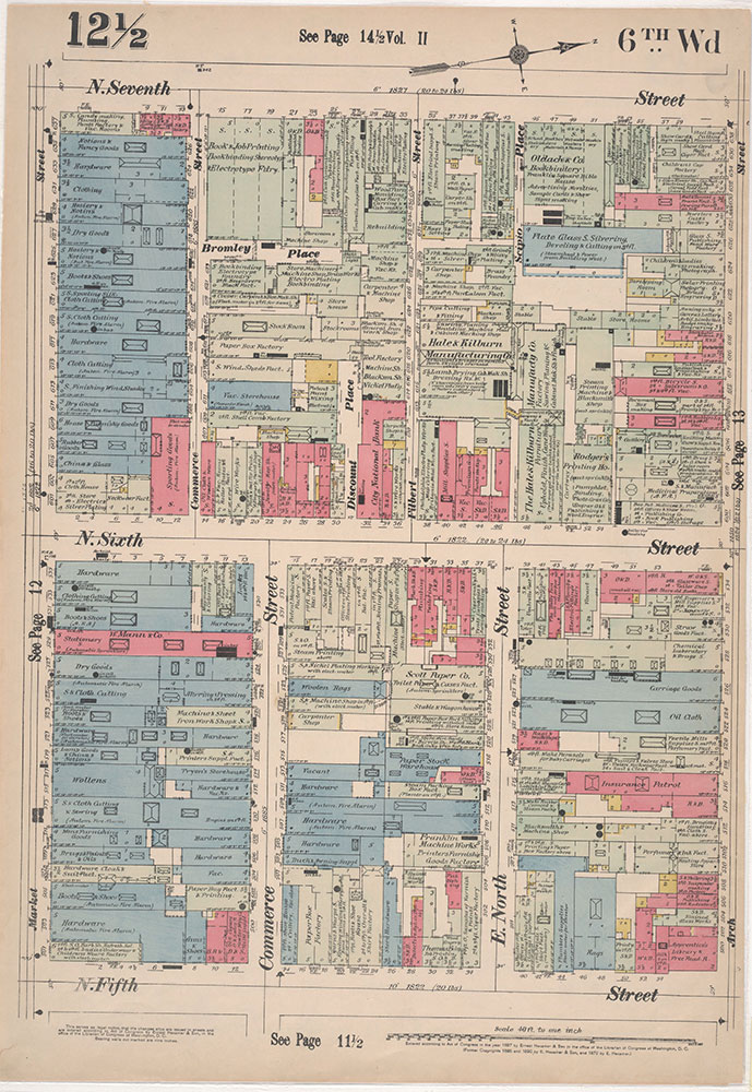 Insurance Maps of the City of Philadelphia, 1897, Plate 12 1/2