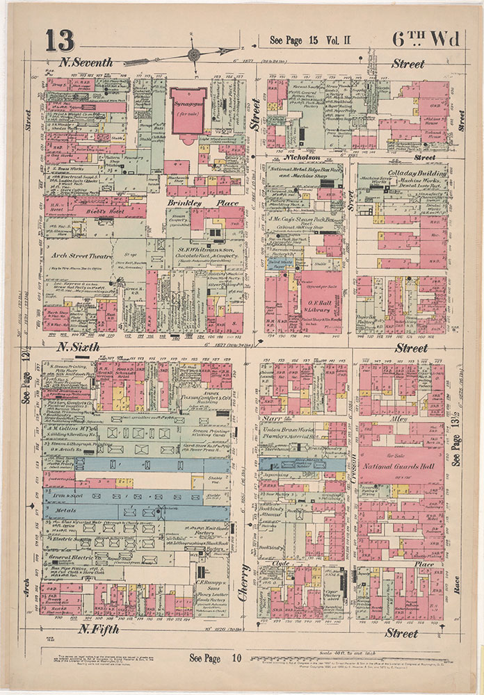 Insurance Maps of the City of Philadelphia, 1897, Plate 13