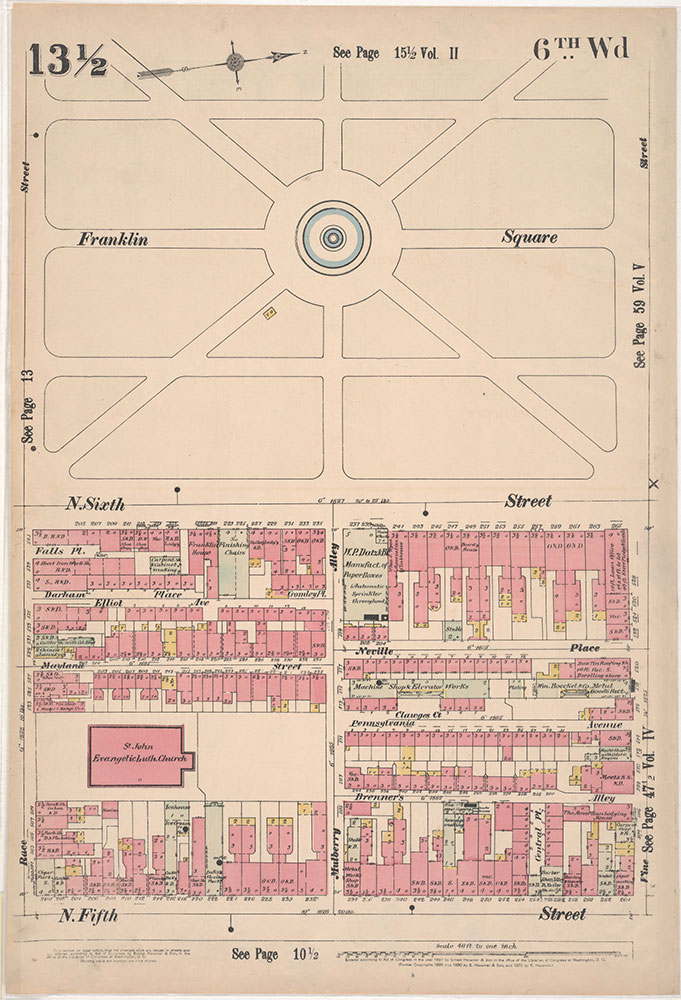 Insurance Maps of the City of Philadelphia, 1897, Plate 13 1/2