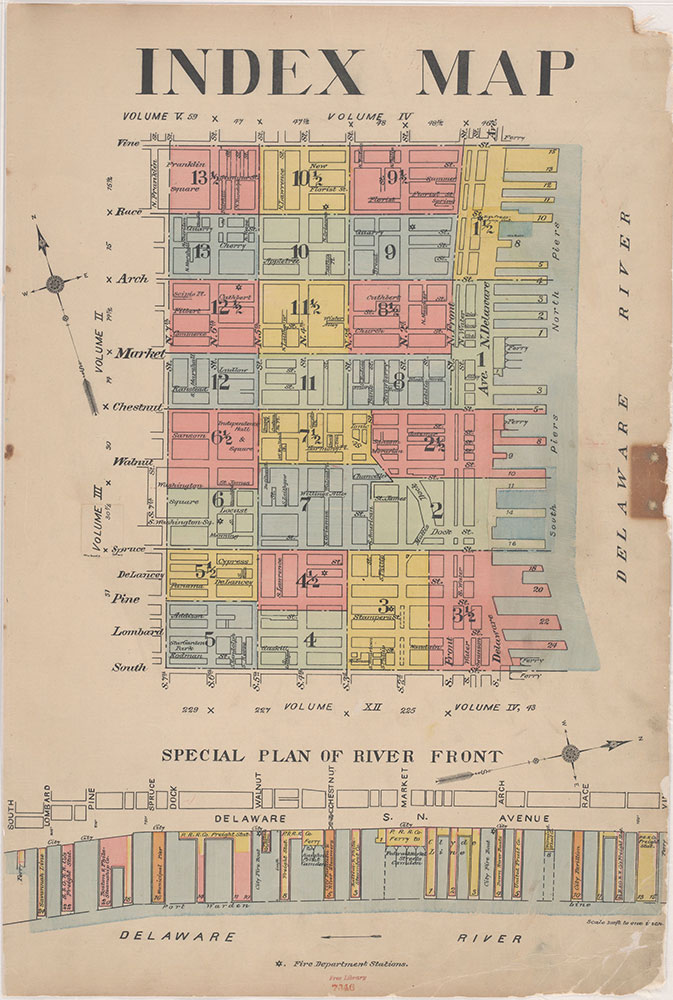 Insurance Maps of the City of Philadelphia, 1915-1916, Index Map