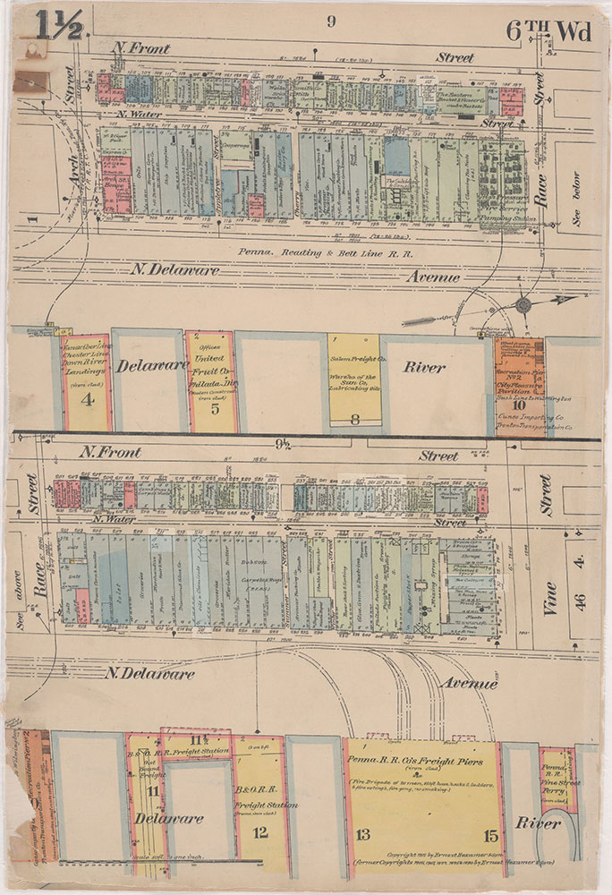 Insurance Maps of the City of Philadelphia, 1915-1916, Plate 1 1/2