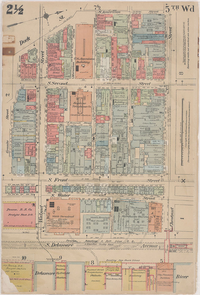 Insurance Maps of the City of Philadelphia, 1915-1916, Plate 2 1/2