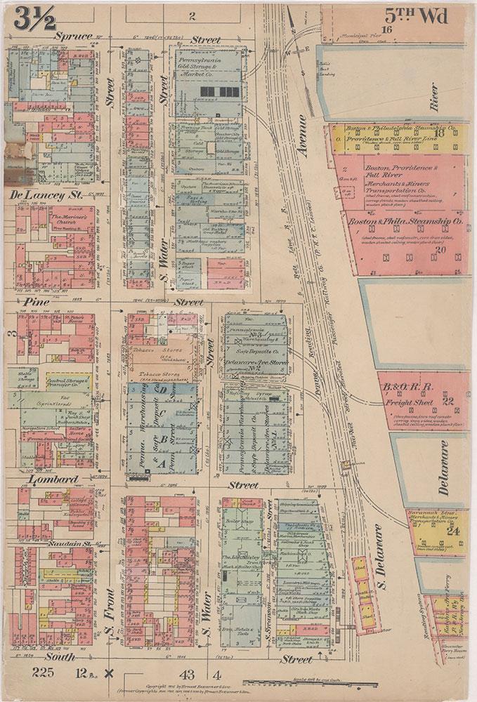 Insurance Maps of the City of Philadelphia, 1915-1916, Plate 3 1/2