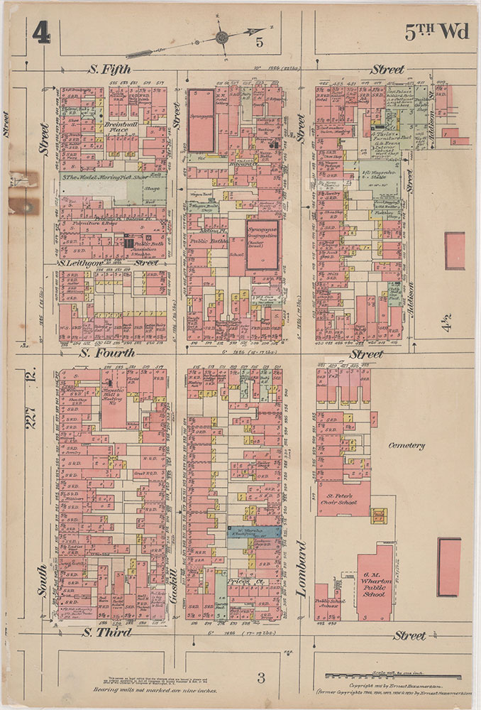 Insurance Maps of the City of Philadelphia, 1915-1916, Plate 4
