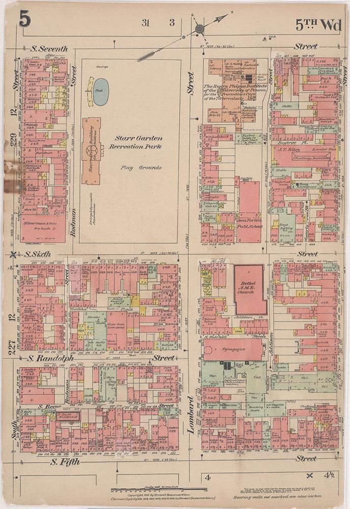 Insurance Maps of the City of Philadelphia, 1915-1916, Plate 5