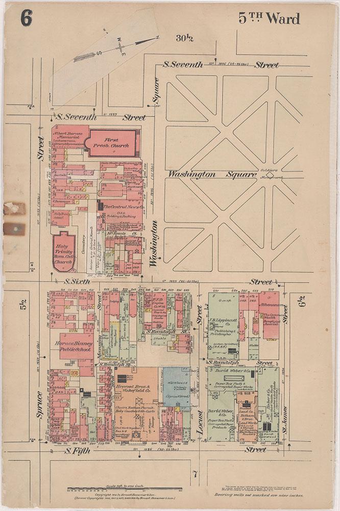Insurance Maps of the City of Philadelphia, 1915-1916, Plate 6