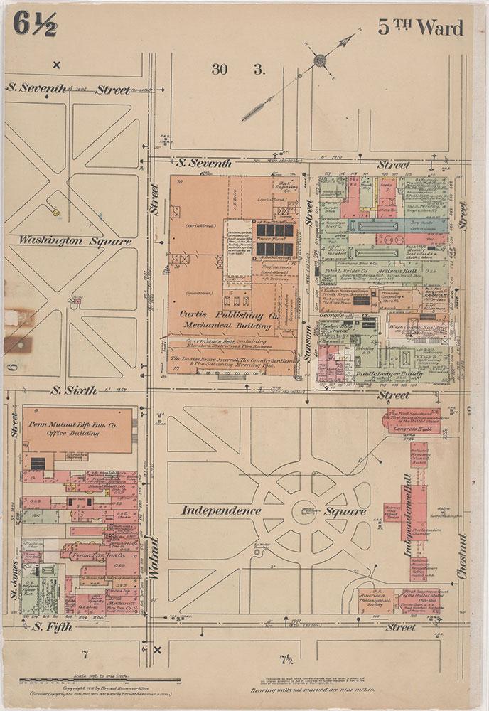 Insurance Maps of the City of Philadelphia, 1915-1916, Plate 6 1/2