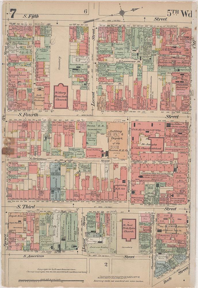 Insurance Maps of the City of Philadelphia, 1915-1916, Plate 7