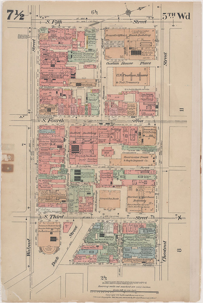 Insurance Maps of the City of Philadelphia, 1915-1916, Plate 7 1/2
