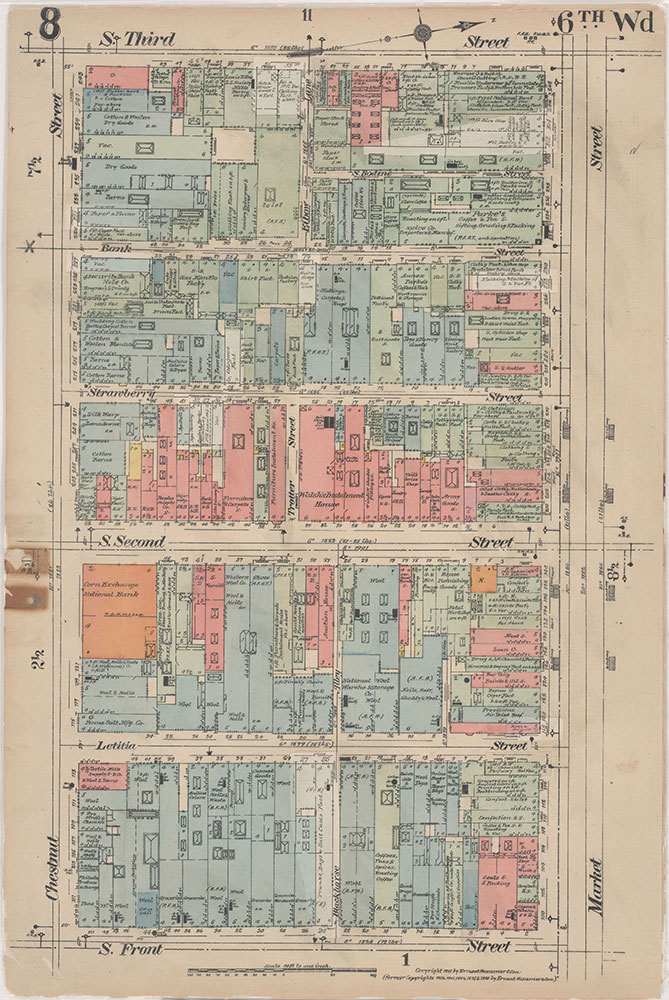 Insurance Maps of the City of Philadelphia, 1915-1916, Plate 8