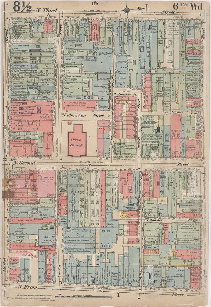 Insurance Maps of the City of Philadelphia, 1915-1916, Plate 8 1/2