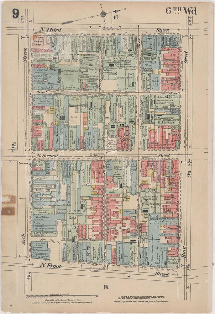 Insurance Maps of the City of Philadelphia, 1915-1916, Plate 9