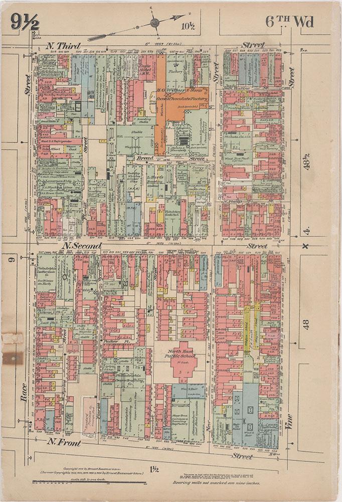 Insurance Maps of the City of Philadelphia, 1915-1916, Plate 9 1/2