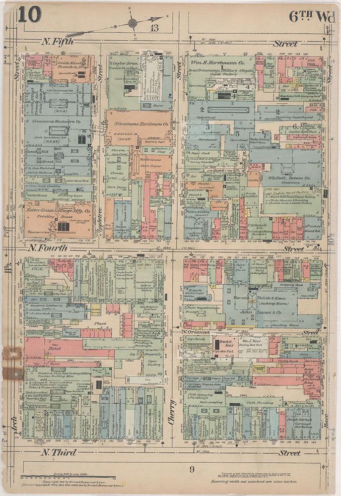 Insurance Maps of the City of Philadelphia, 1915-1916, Plate 10