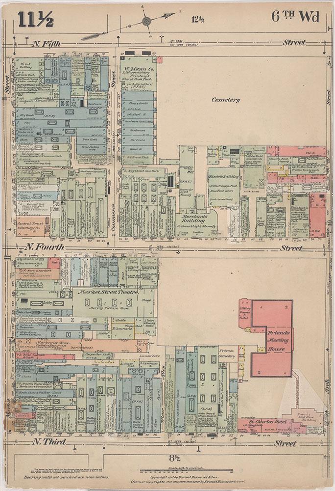 Insurance Maps of the City of Philadelphia, 1915-1916, Plate 11 1/2