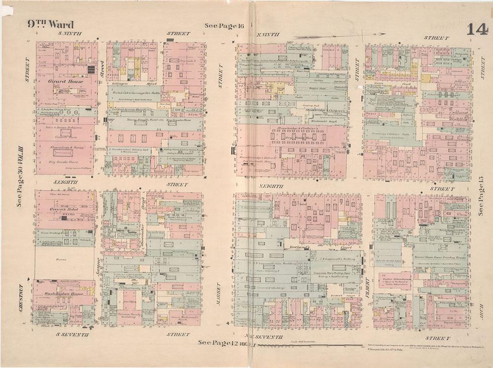 Insurance Maps of the City of Philadelphia, 1887, Plate 14