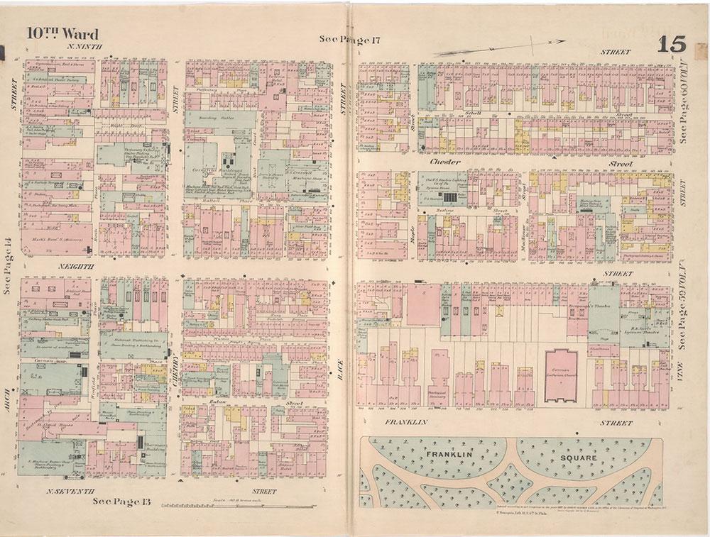 Insurance Maps of the City of Philadelphia, 1887, Plate 15