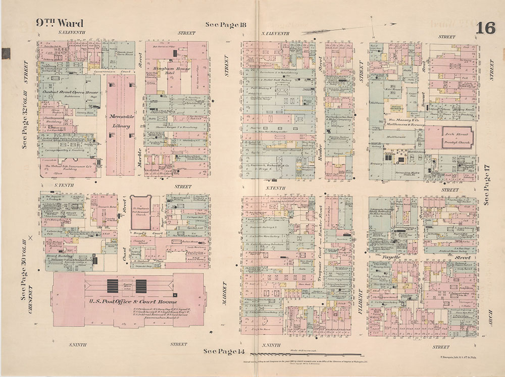 Insurance Maps of the City of Philadelphia, 1887, Plate 16