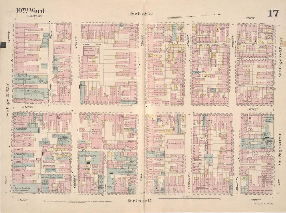 Insurance Maps of the City of Philadelphia, 1887, Plate 17