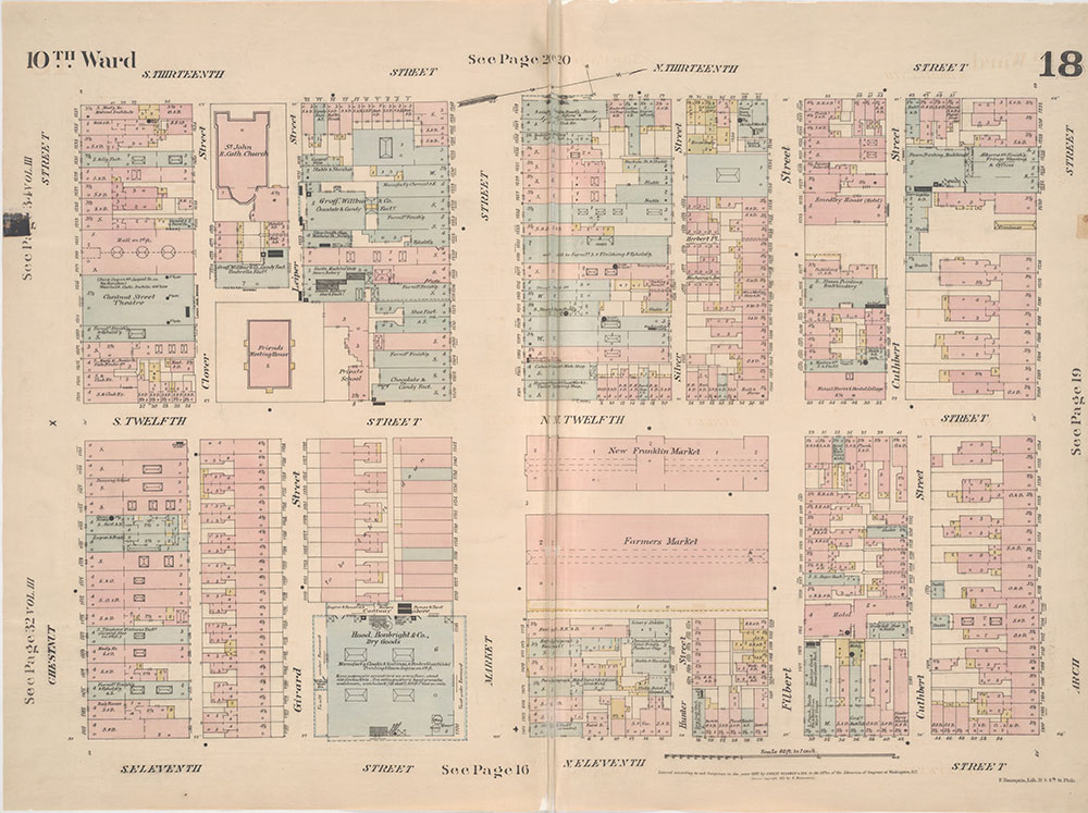 Insurance Maps of the City of Philadelphia, 1887, Plate 18